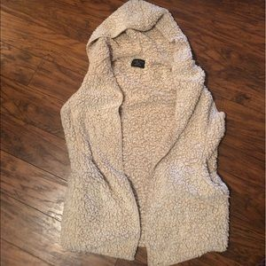 Love tree teddy bear vest sweater in taupe